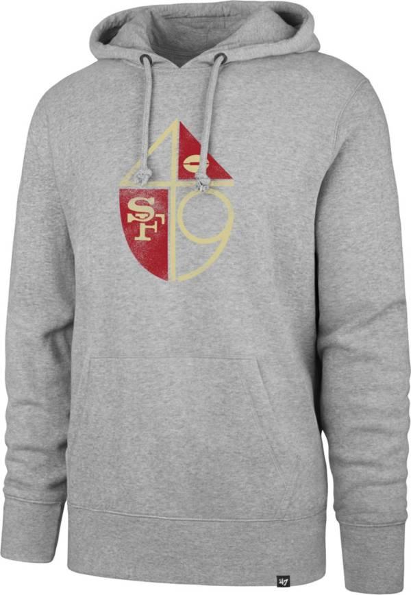 '47 Men's San Francisco 49ers Throwback Headline Grey Hoodie product image