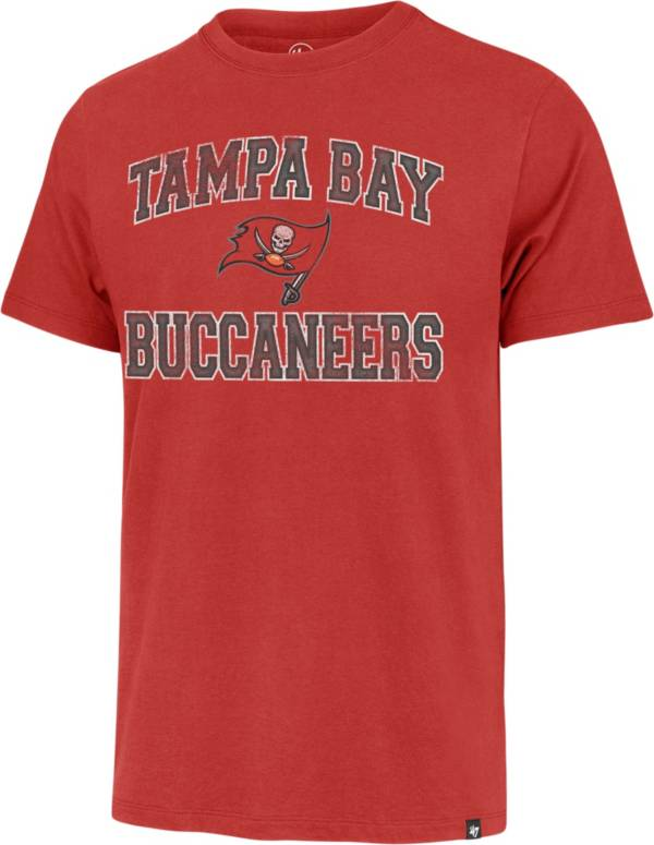 '47 Men's Tampa Bay Buccaneers Arch Franklin Red T-Shirt product image