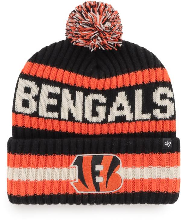 '47 Men's Cincinnati Bengals Bering Black Cuffed Knit Hat product image
