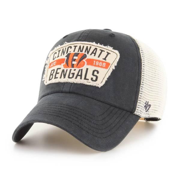 '47 Men's Cincinnati Bengals Black Crawford Clean Up Adjustable Hat product image