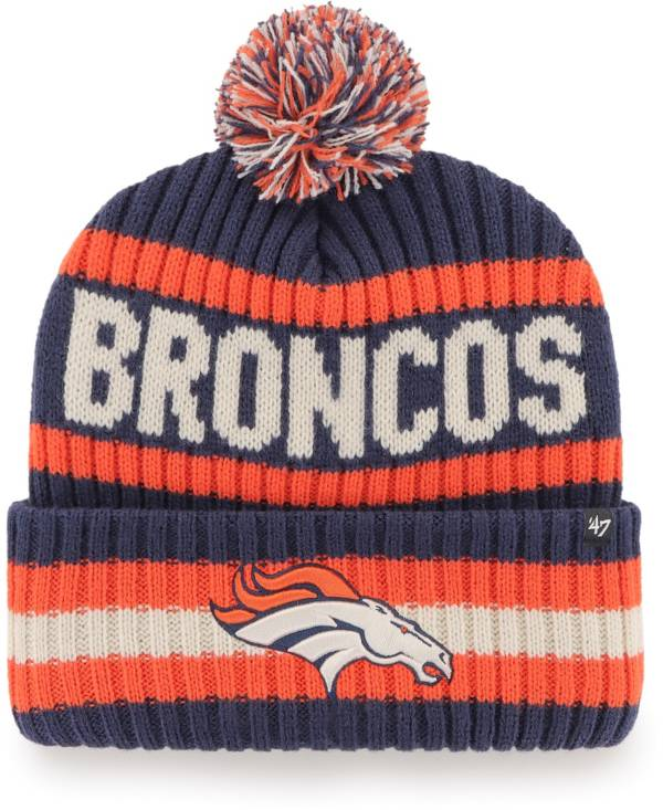 '47 Men's Denver Broncos Bering Navy Cuffed Knit Hat product image