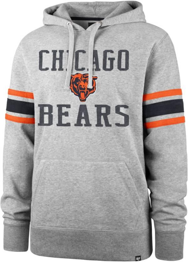 '47 Men's Chicago Bears Double Sleeve-Stripe Grey Hoodie product image