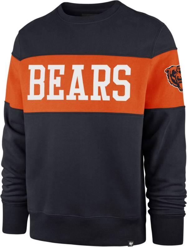 '47 Men's Chicago Bears Interstate Crew Navy Sweatshirt product image