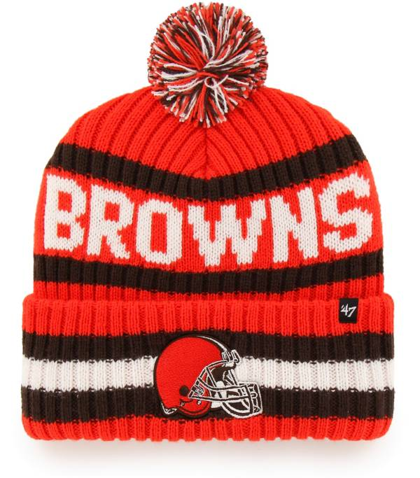 '47 Men's Cleveland Browns Bering Orange Cuffed Knit Hat product image