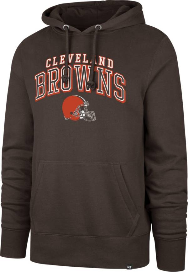 '47 Men's Cleveland Browns Double Decker Headline Brown Hoodie product image