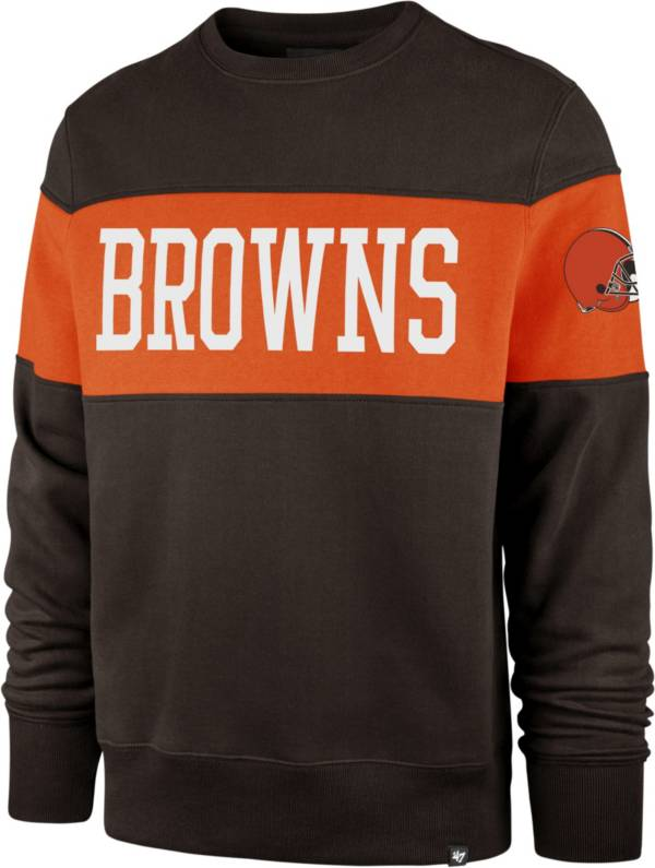 '47 Men's Cleveland Browns Interstate Crew Brown Sweatshirt product image
