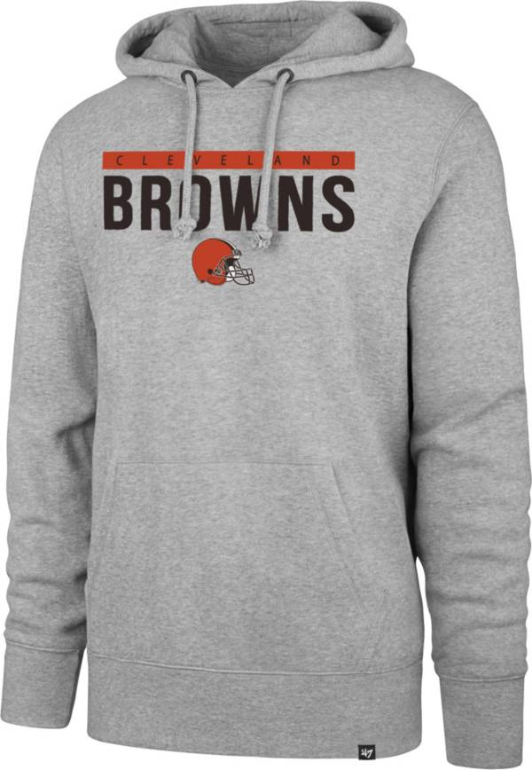 '47 Men's Cleveland Browns Power Luck Headline Grey Hoodie product image