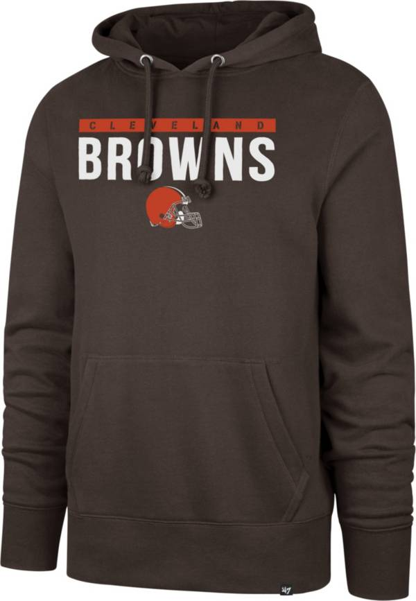 '47 Men's Cleveland Browns Power Luck Headline Brown Hoodie product image