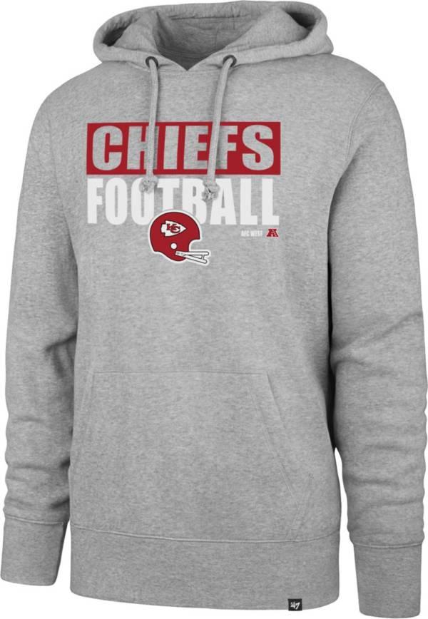 '47 Men's Kansas City Chiefs Blockout Headline Grey Hoodie product image