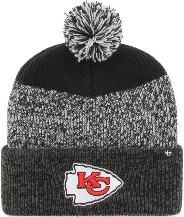 47 Men's Kansas City Chiefs Static Cuffed Black Knit Hat product image