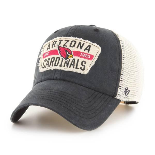 '47 Men's Arizona Cardinals Black Crawford Clean Up Adjustable Hat product image