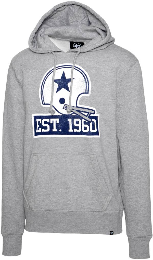 '47 Men's Dallas Cowboys '60th Anniversary Distressed Grey Full-Zip Hoodie product image