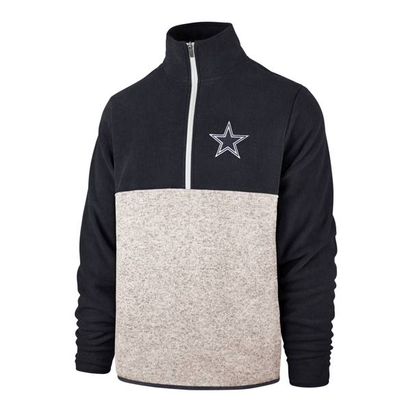 '47 Men's Dallas Cowboys Kodiak Colorblock Grey/Navy Quarter-Zip product image