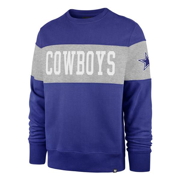 '47 Men's Dallas Cowboys Interstate Crew Neck Royal Hoodie product image