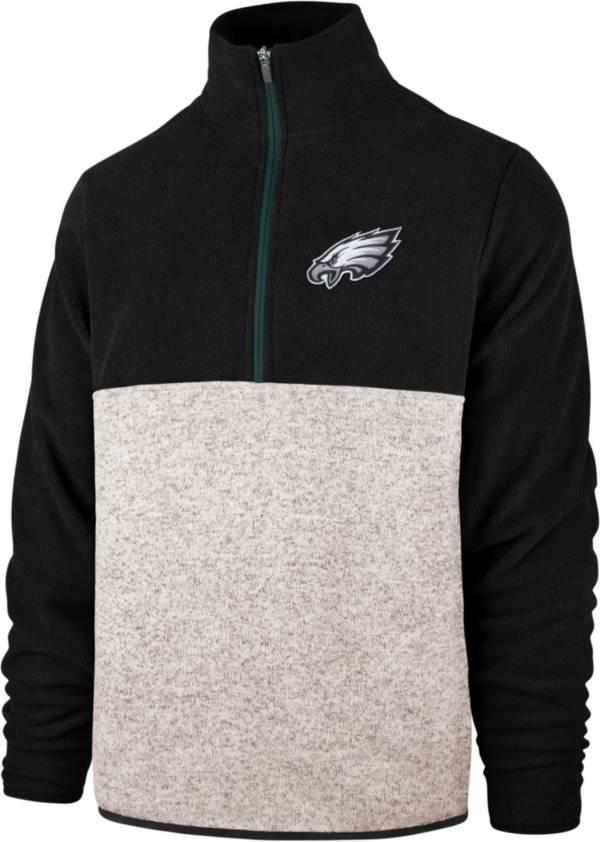'47 Men's Philadelphia Eagles Kodiak Color Block Quarter-Zip Pullover product image