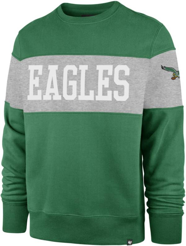 '47 Men's Philadelphia Eagles Interstate Crew Throwback Sweatshirt product image