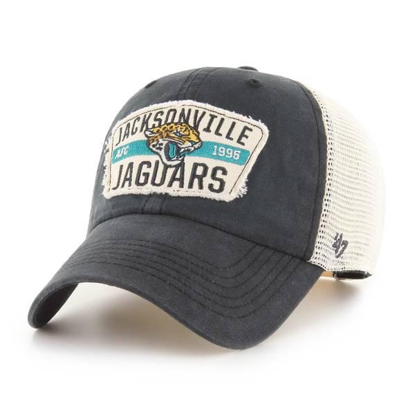 '47 Men's Jacksonville Jaguars Black Crawford Clean Up Adjustable Hat product image