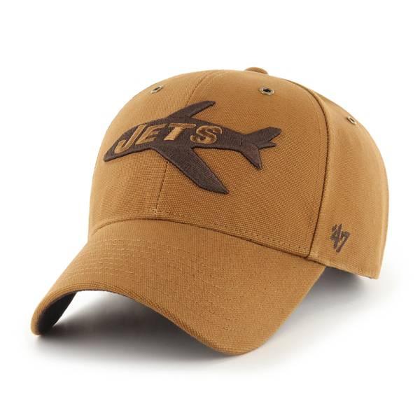 '47 x Carhartt Men's New York Jets Tonal Brown MVP Adjustable Hat product image