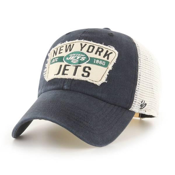 '47 Men's New York Jets Vintage Black Clean Up Adjustable Hat product image