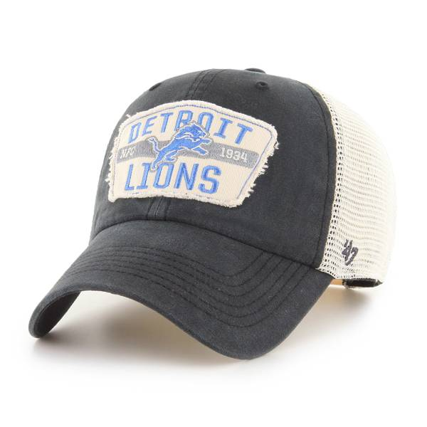 '47 Men's Detroit Lions Vintage Black Clean Up Adjustable Hat product image
