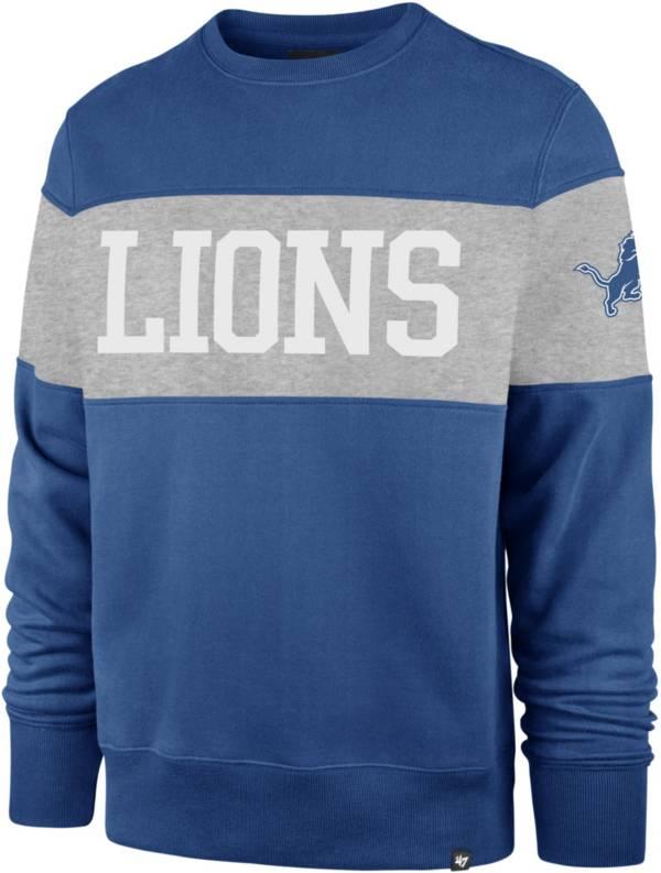 '47 Men's Detroit Lions Interstate Crew Blue Sweatshirt product image