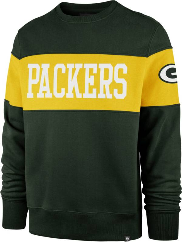 '47 Men's Green Bay Packers Interstate Crew Green Sweatshirt product image