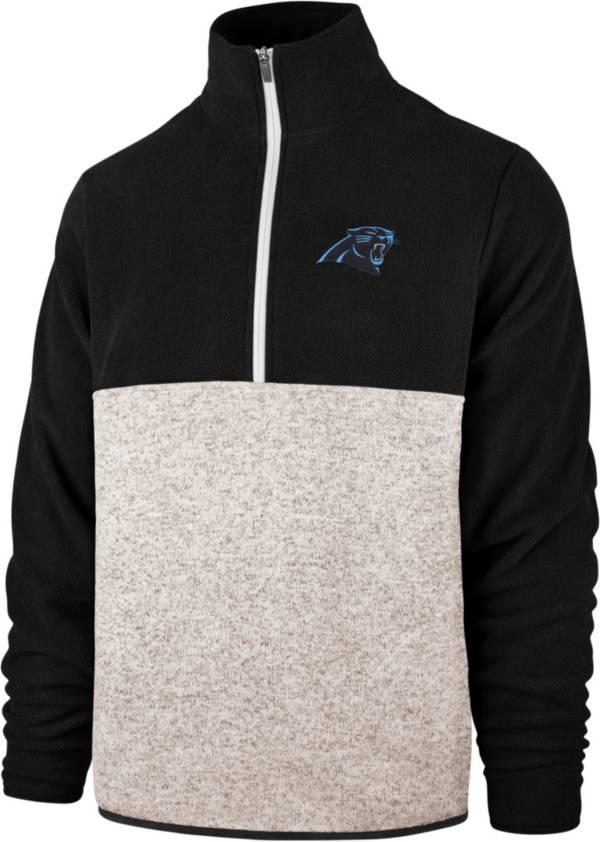 '47 Men's Carolina Panthers Kodiak Color Block Quarter-Zip Pullover product image