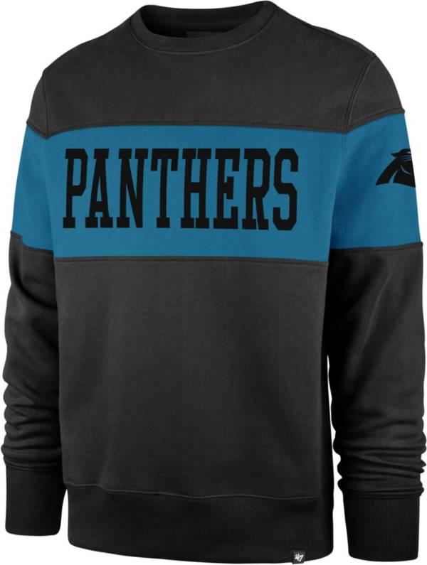 '47 Men's Carolina Panthers Interstate Crew Black Sweatshirt product image