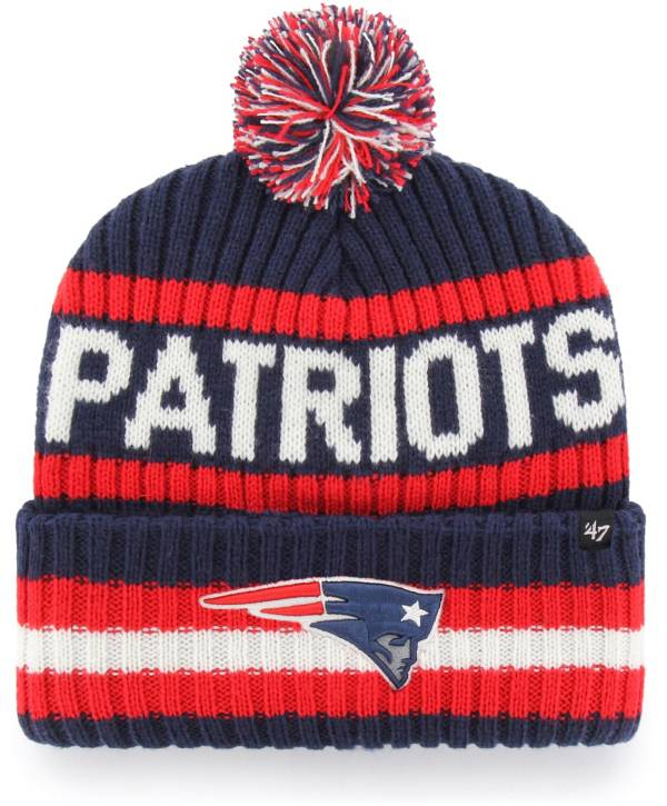 '47 Men's New England Patriots Bering Navy Cuffed Knit Hat product image