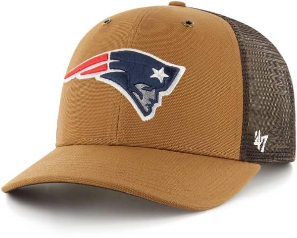 '47 x Carhartt Men's New England Patriots Brown Mesh MVP Adjustable Hat product image