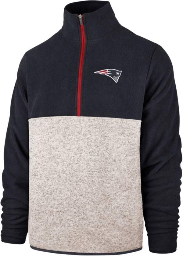 '47 Men's New England Patriots Kodiak Color Block Quarter-Zip Pullover product image
