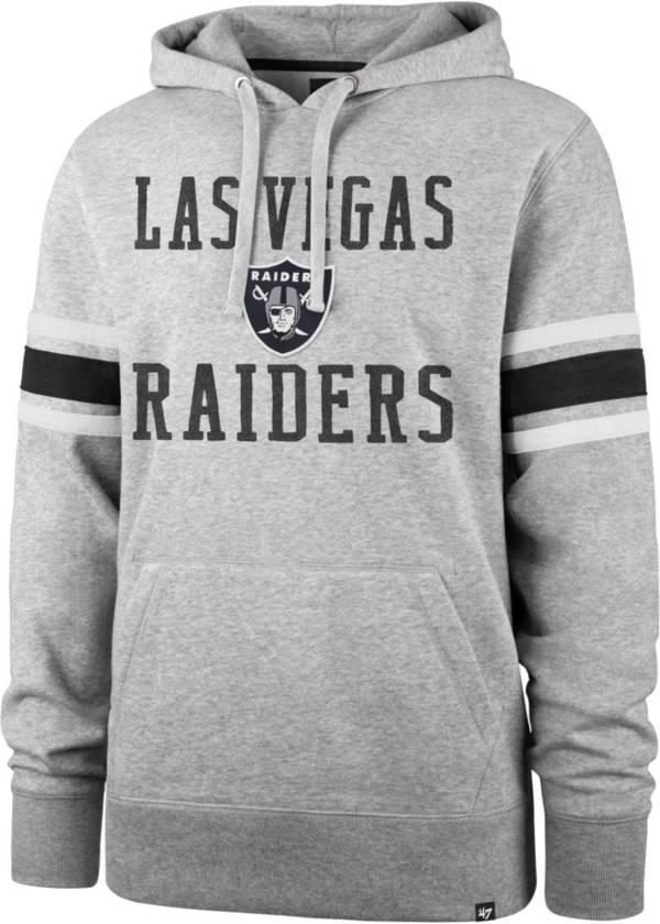 '47 Men's Las Vegas Raiders Double Sleeve-Stripe Grey Hoodie product image