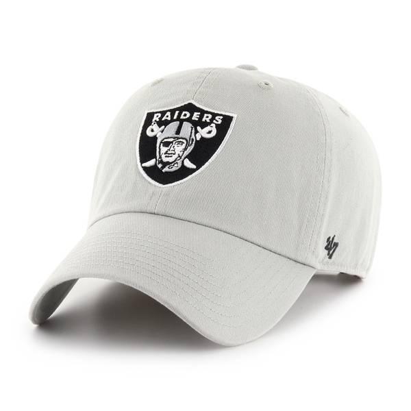 '47 Men's Las Vegas Raiders Cleanup Gray Adjustable Hat product image