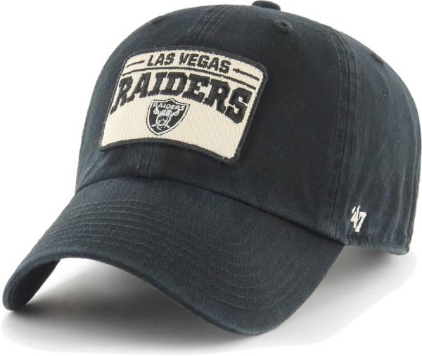 '47 Men's Las Vegas Raiders Black Patch Clean Up Adjustable Hat product image