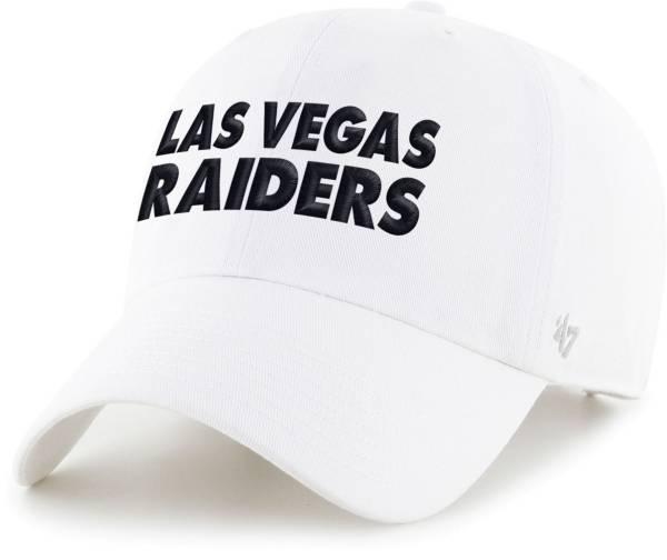 '47 Men's Las Vegas Raiders White Script Clean Up Adjustable Hat product image
