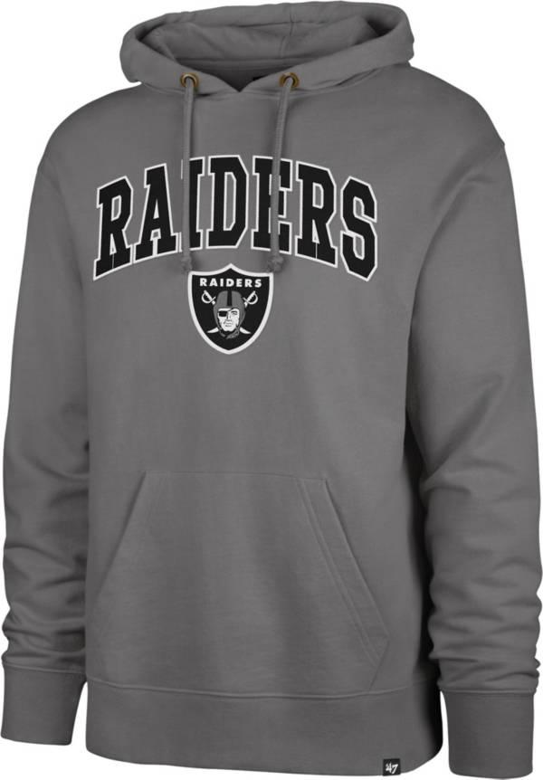 '47 Men's Las Vegas Raiders Striker Grey Grey Pullover Hoodie product image