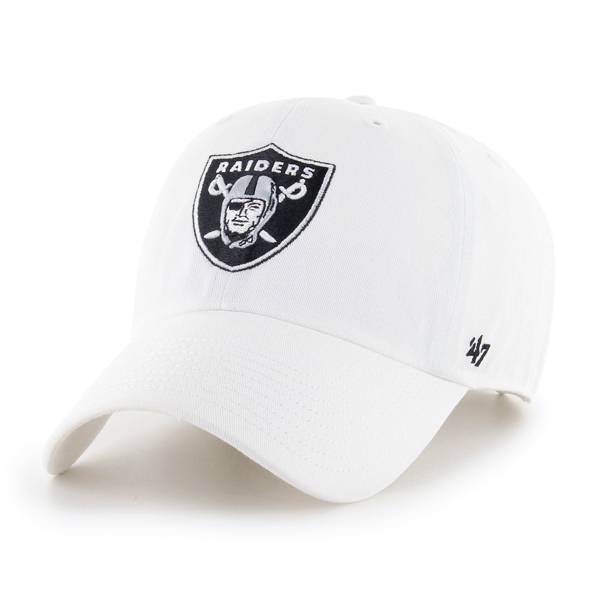 '47 Men's Las Vegas Raiders Cleanup White Adjustable Hat product image