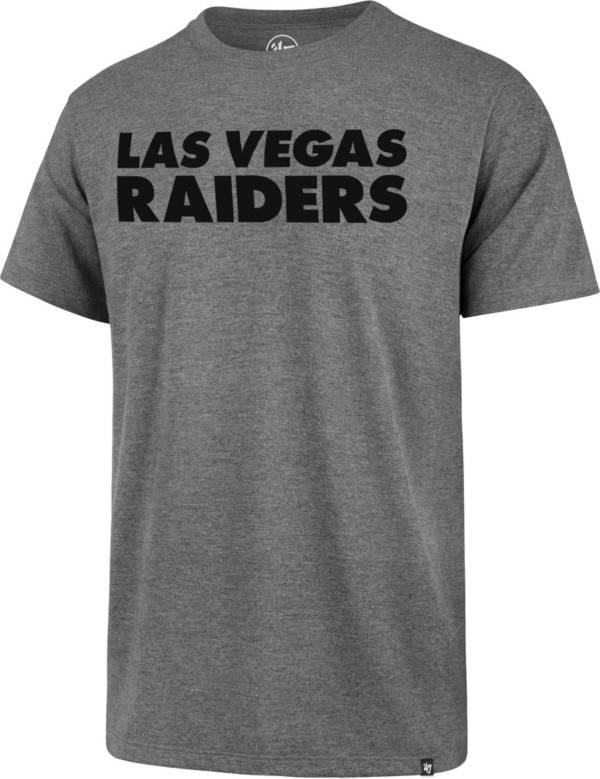 '47 Men's Las Vegas Raiders Rival Wordmark Grey T-Shirt product image
