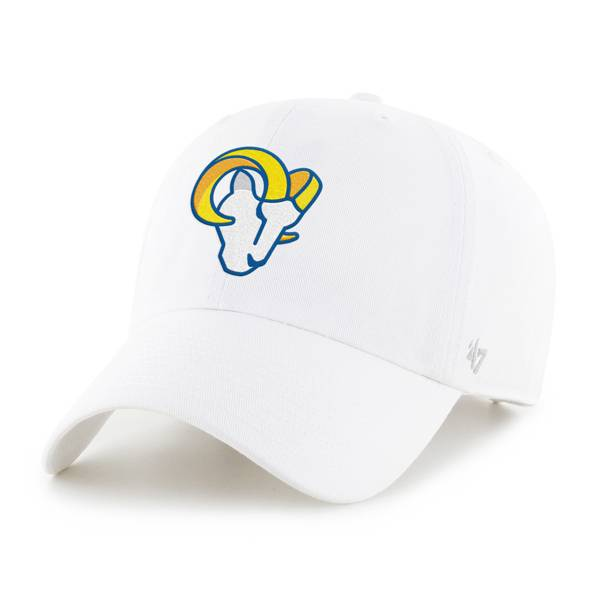 '47 Men's Los Angeles Rams Skull Clean Up White Adjustable Hat product image