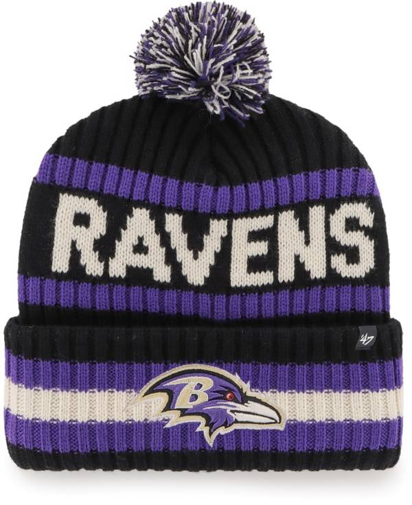 '47 Men's Baltimore Ravens Bering Black Cuffed Knit Hat product image