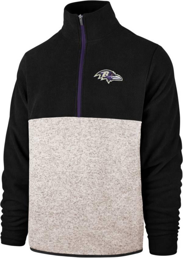 '47 Men's Baltimore Ravens Kodiak Color Block Quarter-Zip Pullover product image