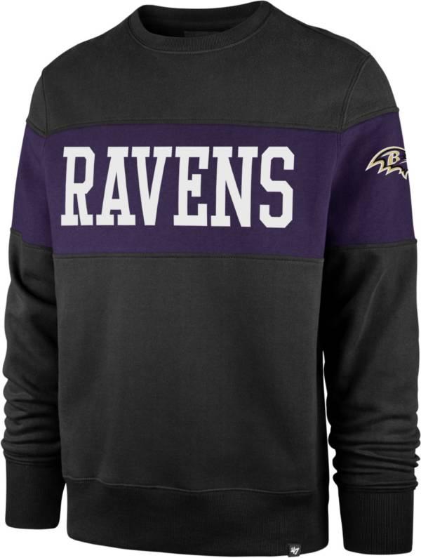'47 Men's Baltimore Ravens Interstate Crew Black Sweatshirt product image