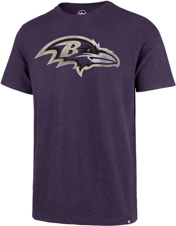 '47 Men's Baltimore Ravens Scrum Logo Purple T-Shirt product image