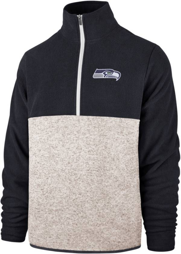 '47 Men's Seattle Seahawks Kodiak Color Block Quarter-Zip Pullover product image