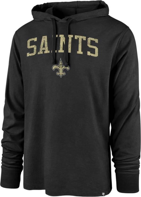 '47 Men's New Orleans Saints Power Up Club Black Long Sleeve T-Shirt product image