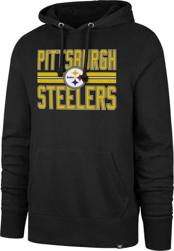 '47 Men's Pittsburgh Steelers Stripe Headline Black Hoodie product image