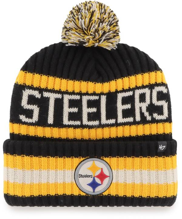 '47 Men's Pittsburgh Steelers Bering Black Cuffed Knit product image