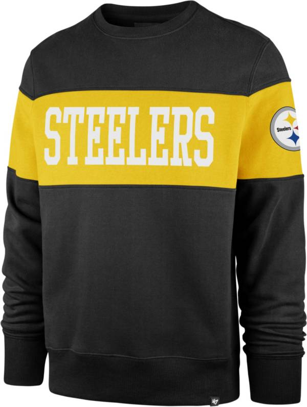 '47 Men's Pittsburgh Steelers Interstate Crew Black Sweatshirt product image