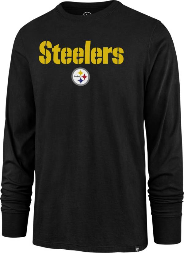 '47 Men's Pittsburgh Steelers Pregame Rival Black Long Sleeve T-Shirt product image