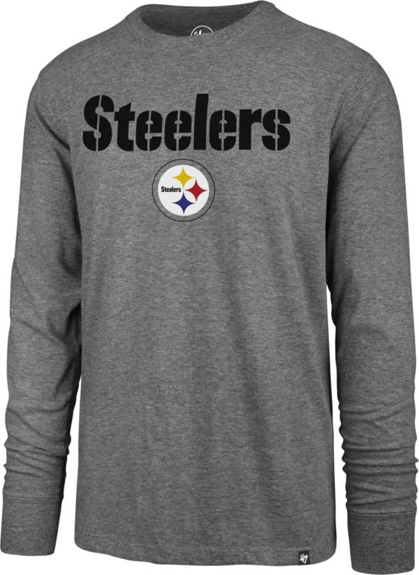 '47 Men's Pittsburgh Steelers Pregame Rival Grey Long Sleeve T-Shirt product image